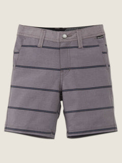 Little Boys Frickin Surf N' Turf Mix Hybrid Shorts In Gunmetal Grey, Front View