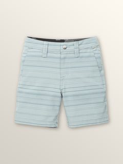 Little Boys Frickin Surf N' Turf Mix Hybrid Shorts In Lead, Front View