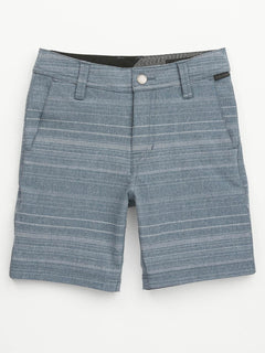 Little Boys Frickin Surf N' Turf Mix Hybrid Shorts In Service Blue, Front View