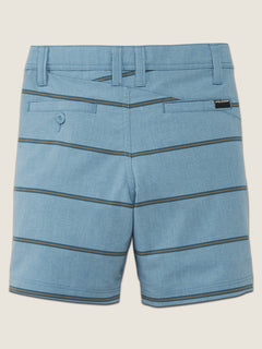 Little Boys Frickin Surf N' Turf Mix Hybrid Shorts In Wrecked Indigo, Back View