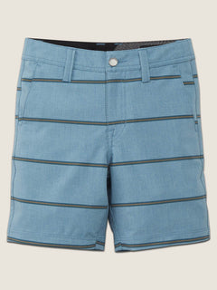 Little Boys Frickin Surf N' Turf Mix Hybrid Shorts In Wrecked Indigo, Front View