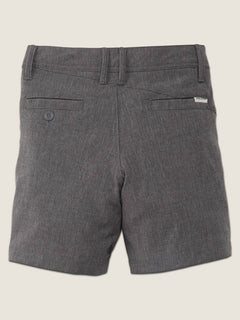 Little Boys Frickin Surf N' Turf Static Hybrid Shorts In Charcoal Heather, Back View