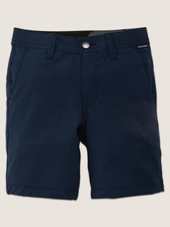 Little Boys Frickin Surf N' Turf Static Hybrid Shorts In Navy, Front View