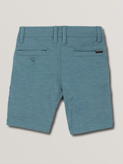 Little Boys Frickin Surf N' Turf Static Hybrid Shorts In Sea Navy, Back View