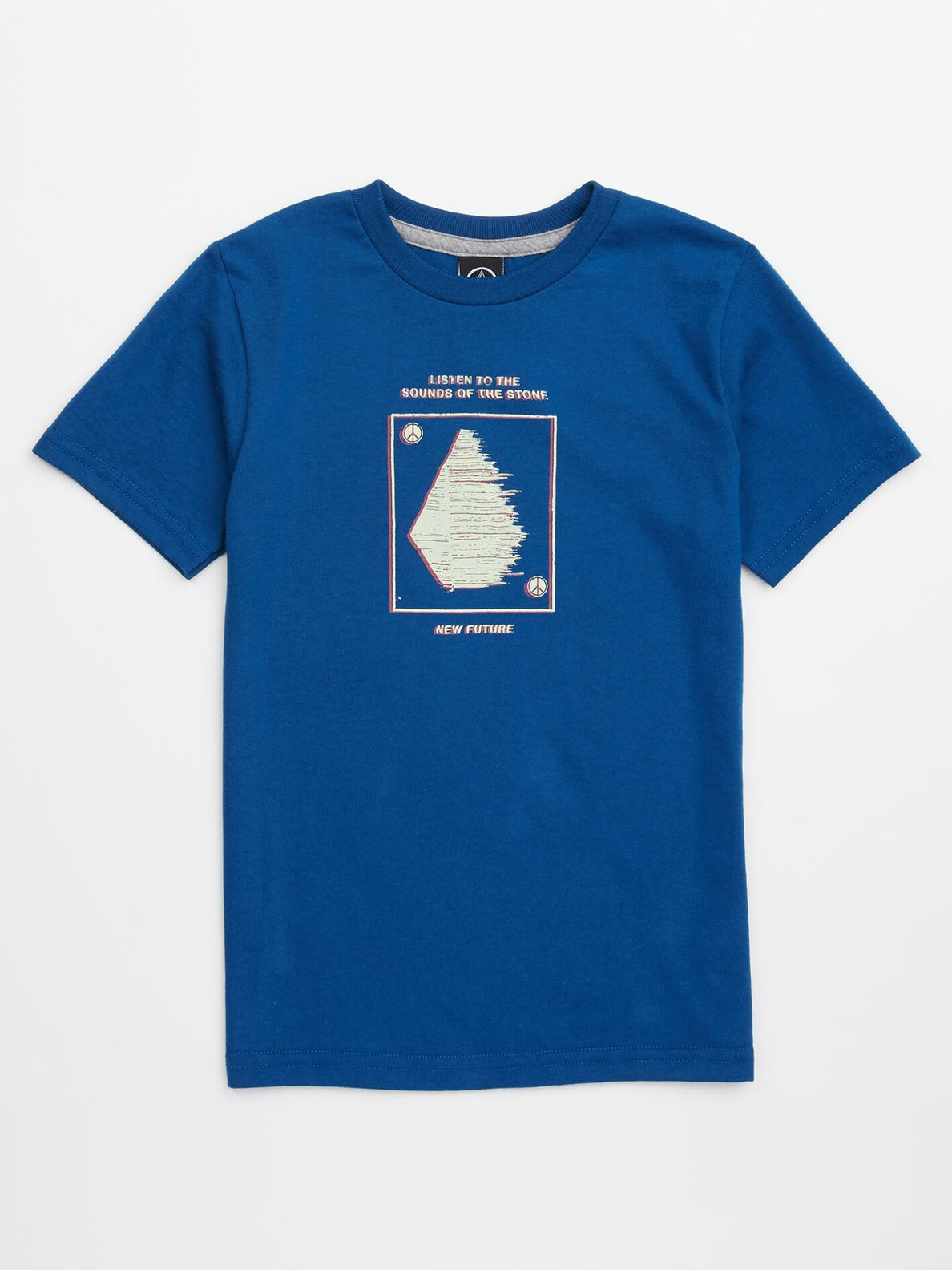 Little Boys Sound Tee In Camper Blue, Front View