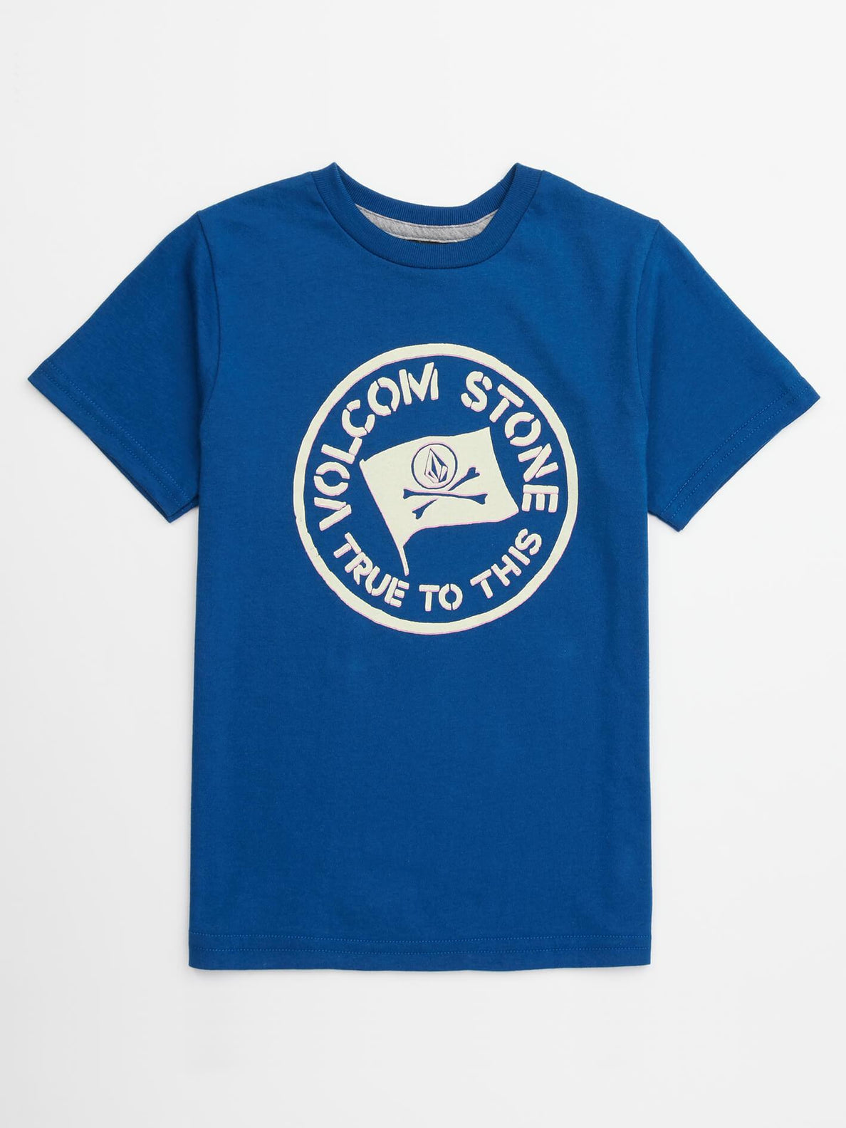 Little Boys Jolly Rebel Tee In Camper Blue, Front View