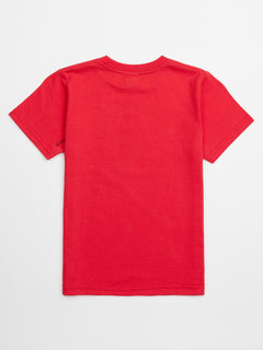 Little Boys Jolly Rebel Tee In True Red, Back View