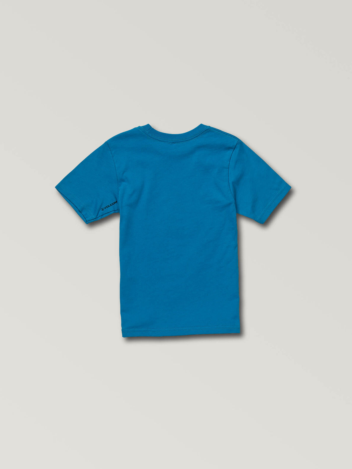 Little Boys Spray Stone Short Sleeve Tee In Bright Blue, Back View
