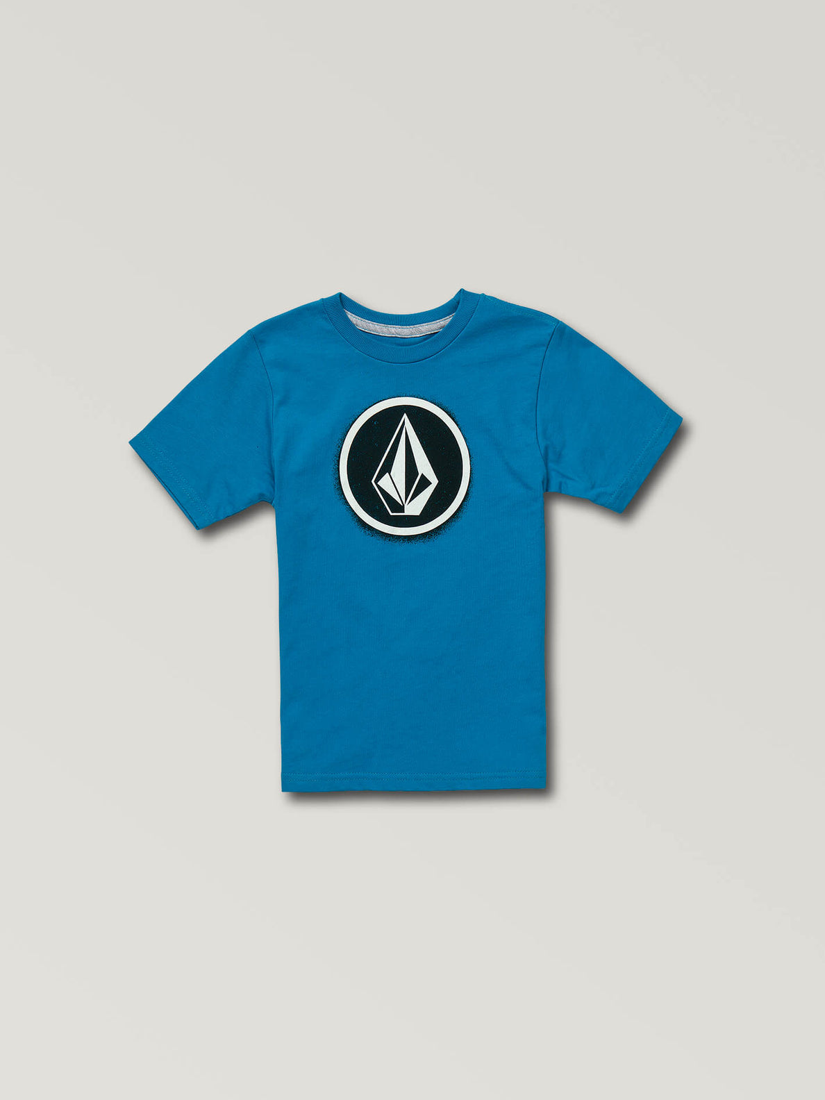 Little Boys Spray Stone Short Sleeve Tee In Bright Blue, Front View