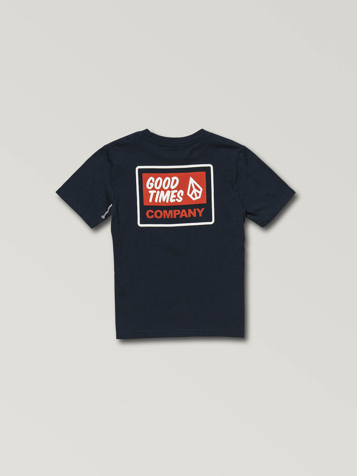 Little Boys Volcom Is Good Short Sleeve Tee In Navy, Back View