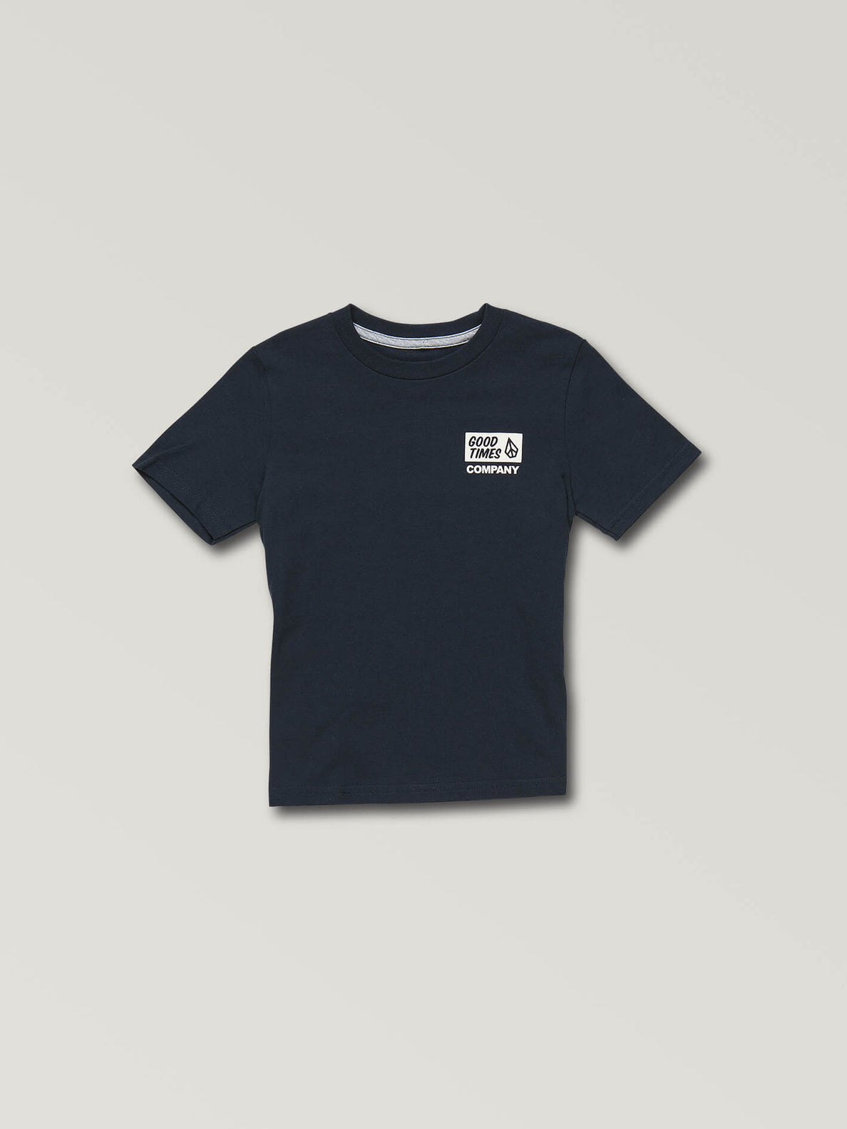 Little Boys Volcom Is Good Short Sleeve Tee In Navy, Front View