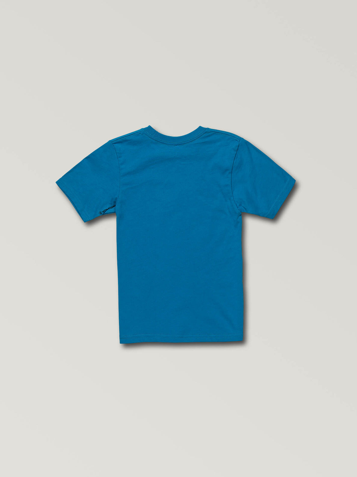 Little Boys Stone Sounds Short Sleeve Tee In Bright Blue, Back View
