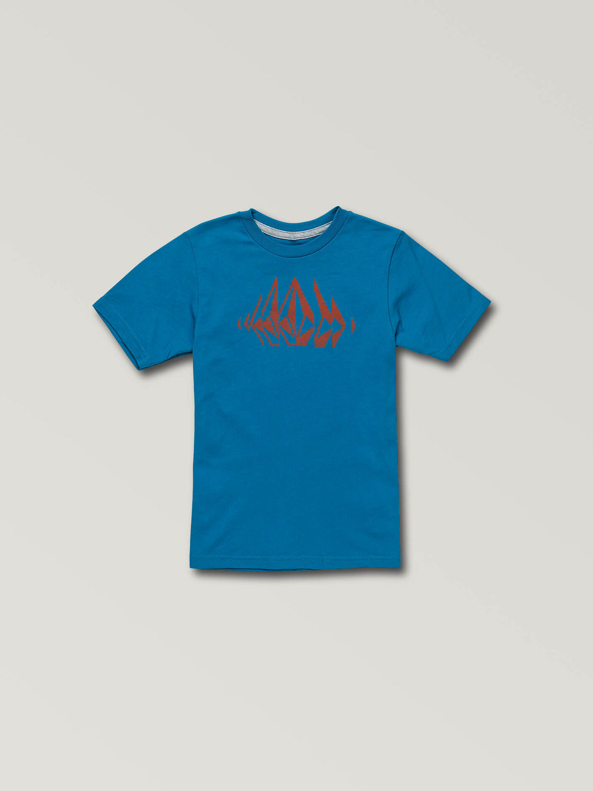 Little Boys Stone Sounds Short Sleeve Tee In Bright Blue, Front View