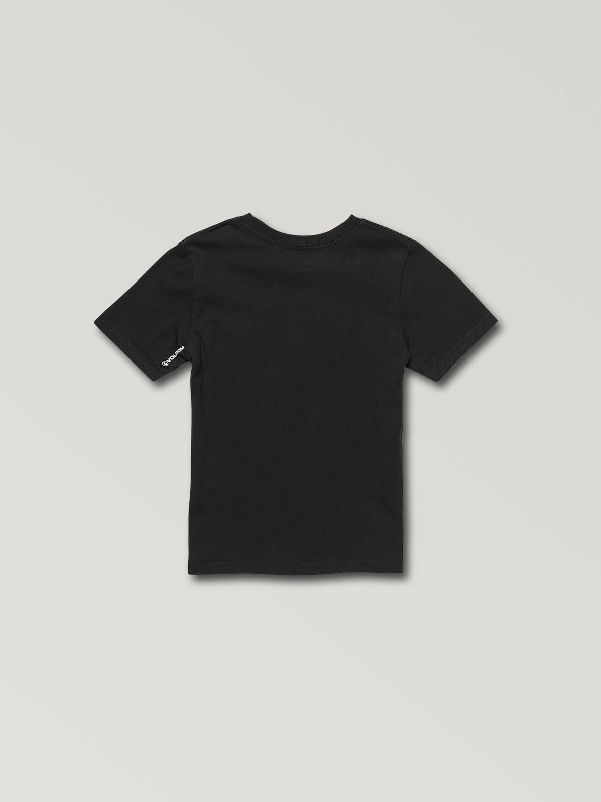 Little Boys Stone Sounds Short Sleeve Tee In Black, Back View