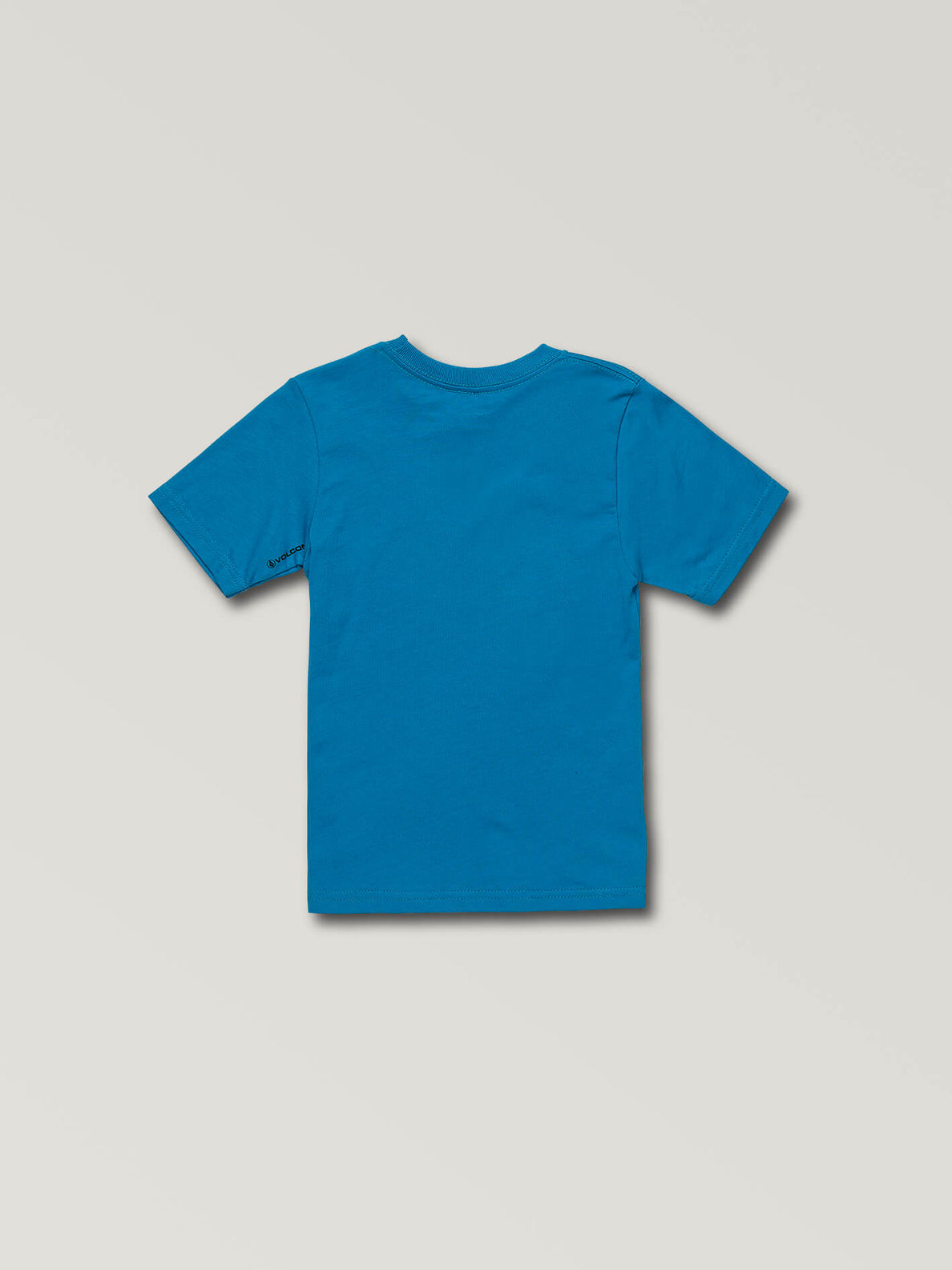 Little Boys Super Clean Short Sleeve Tee In Bright Blue, Back View
