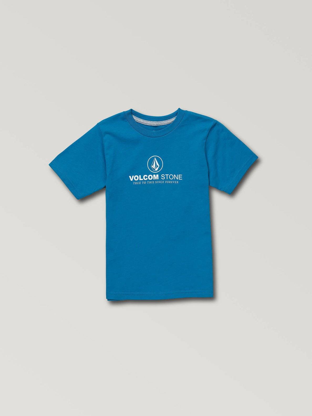 Little Boys Super Clean Short Sleeve Tee In Bright Blue, Front View