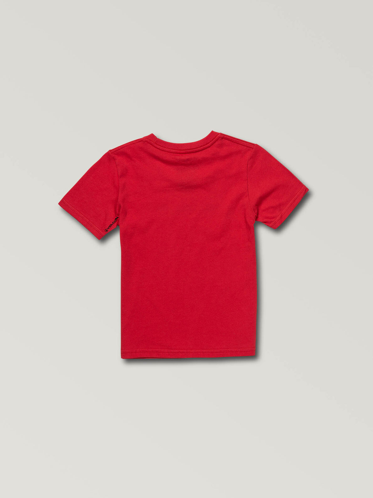 Little Boys Super Clean Short Sleeve Tee In True Red, Back View