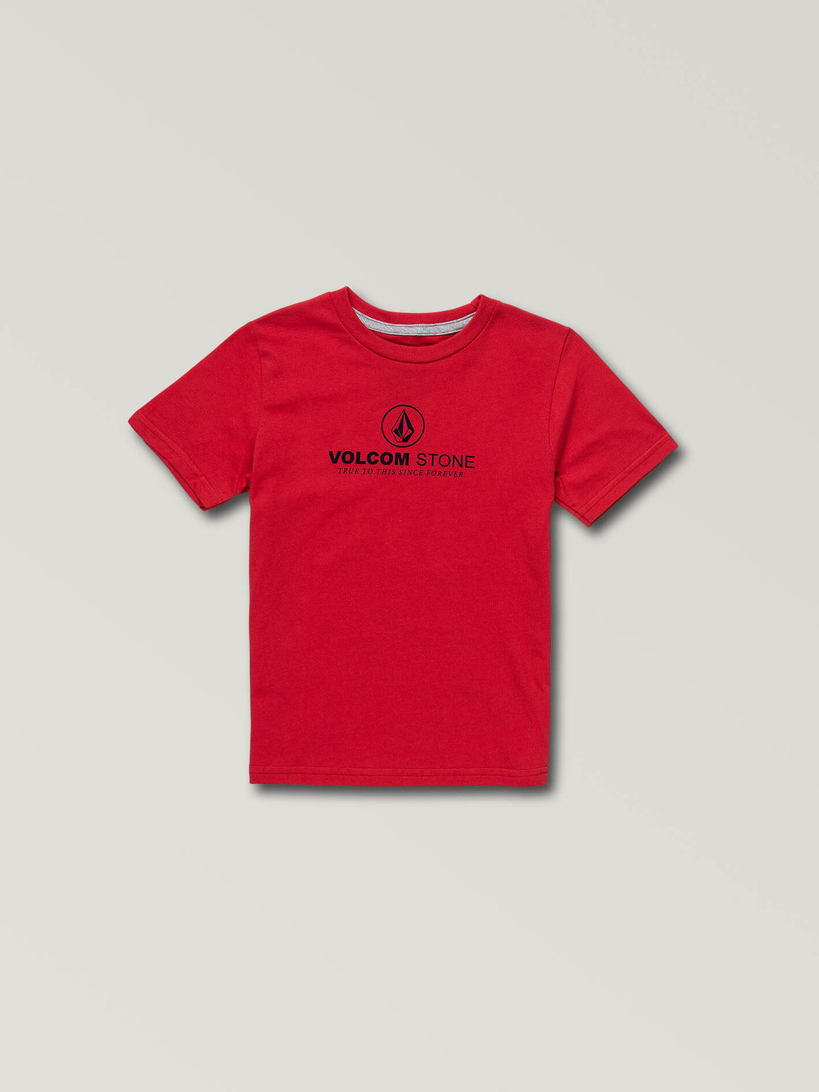 Little Boys Super Clean Short Sleeve Tee In True Red, Front View