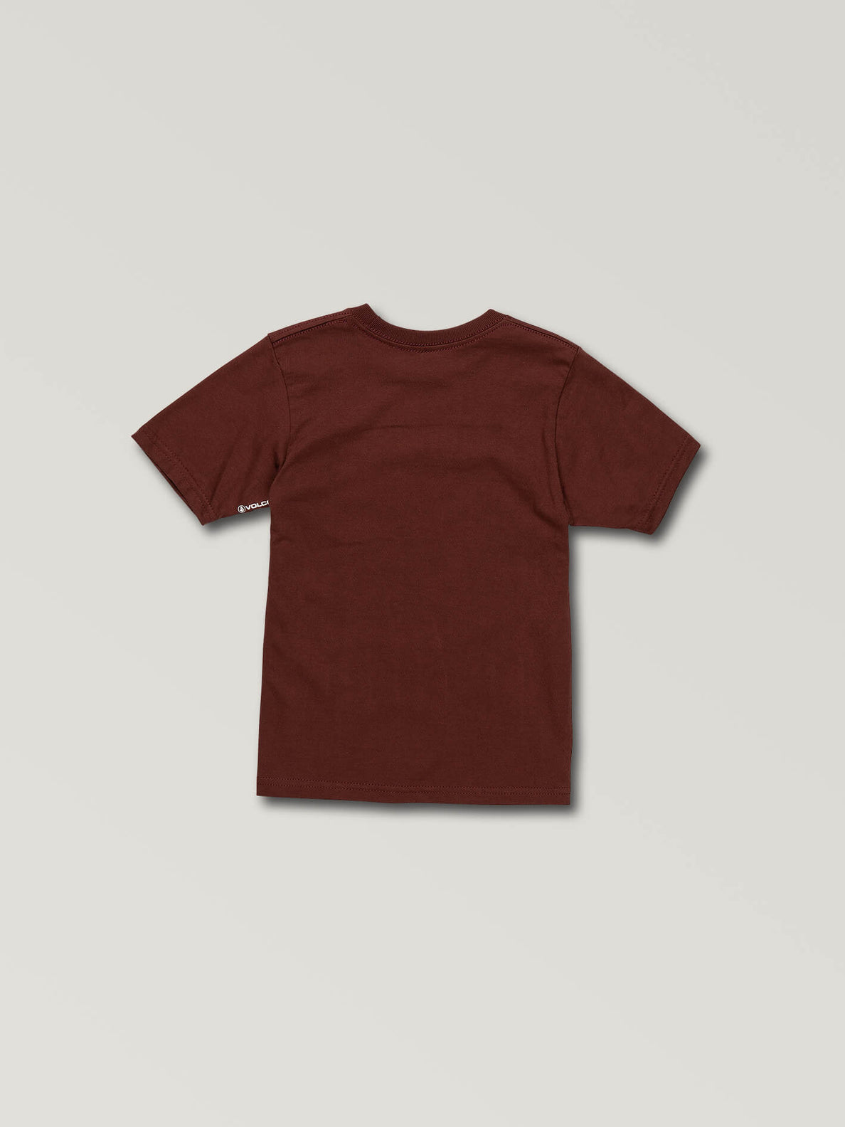 Little Boys Volcom Panic Short Sleeve Tee In Pomegranate, Back View