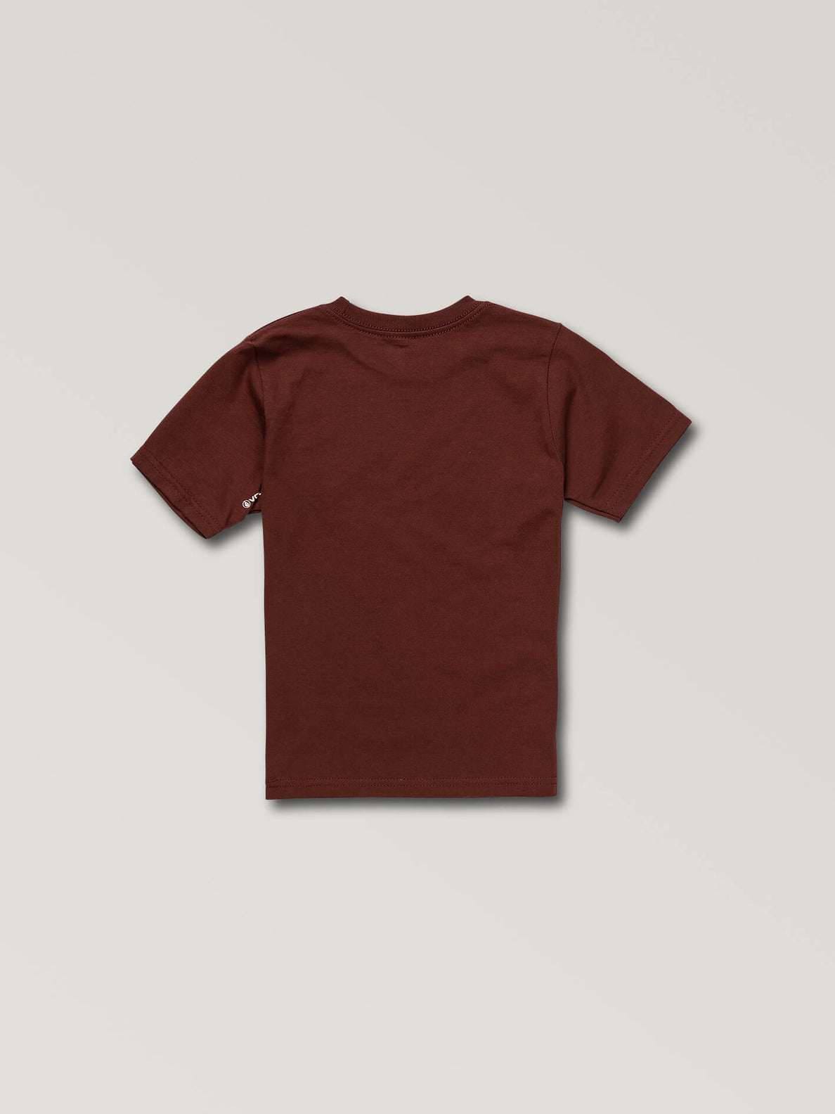 Little Boys Ozzie Tiger Short Sleeve Tee In Pomegranate, Back View