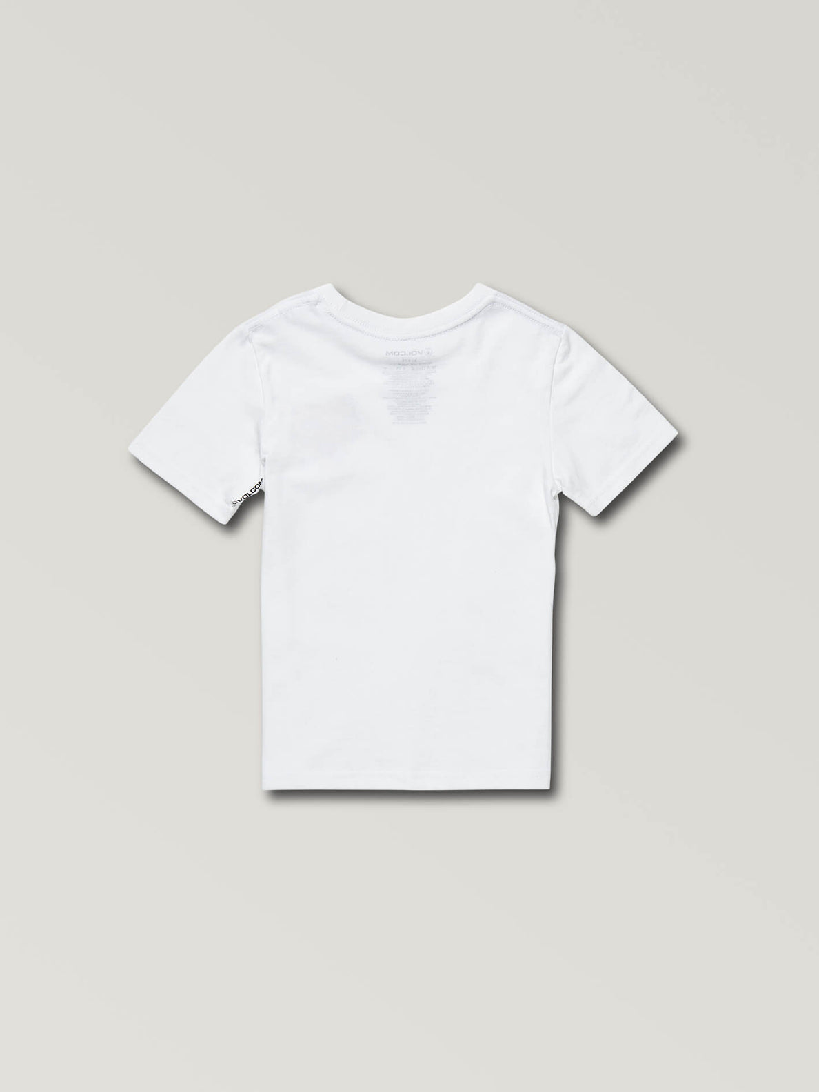 Little Boys Ozzie Tiger Short Sleeve Tee In White, Back View