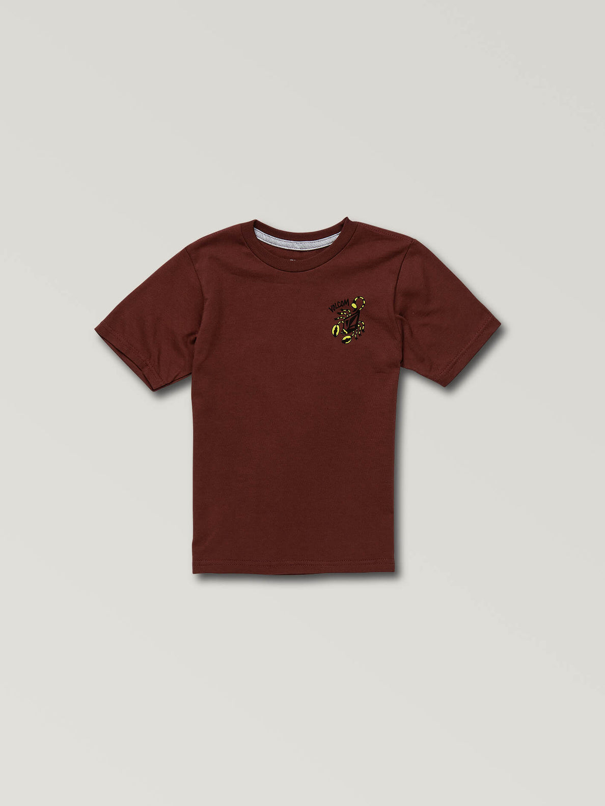 Little Boys Scorpo Short Sleeve Tee In Pomegranate, Front View