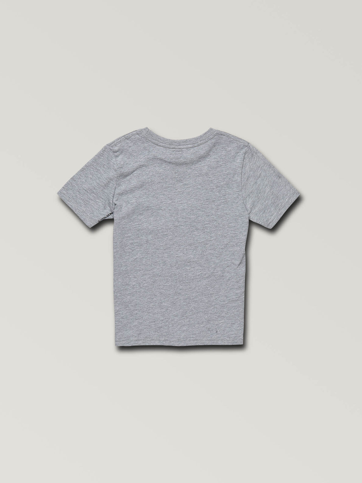 Little Boys Stone Eyes Short Sleeve Tee In Heather Grey, Back View