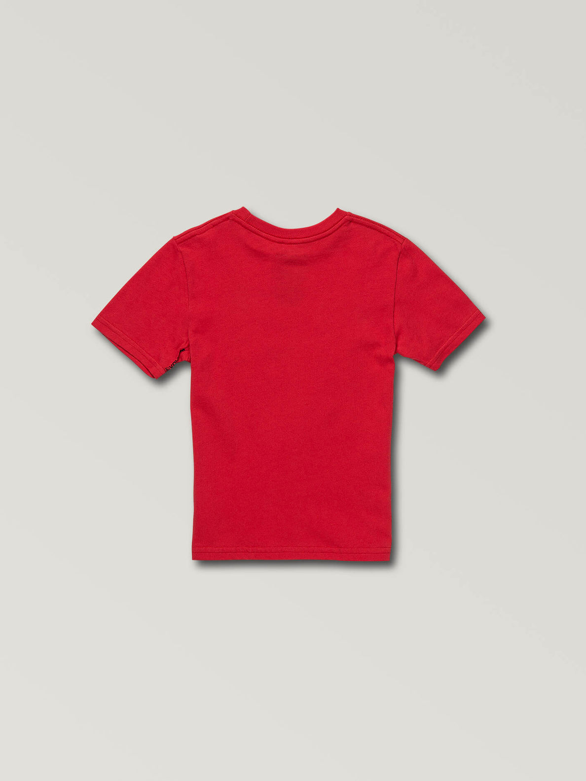 Little Boys Stone Eyes Short Sleeve Tee In True Red, Back View