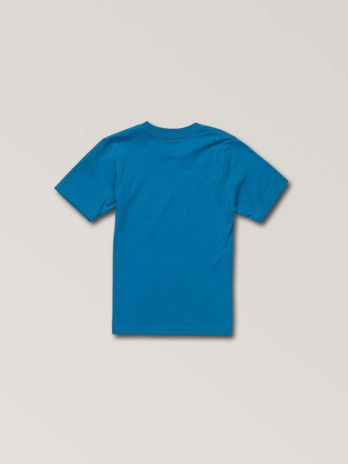 Little Boys Deadly Stone Short Sleeve Tee In Bright Blue, Back View