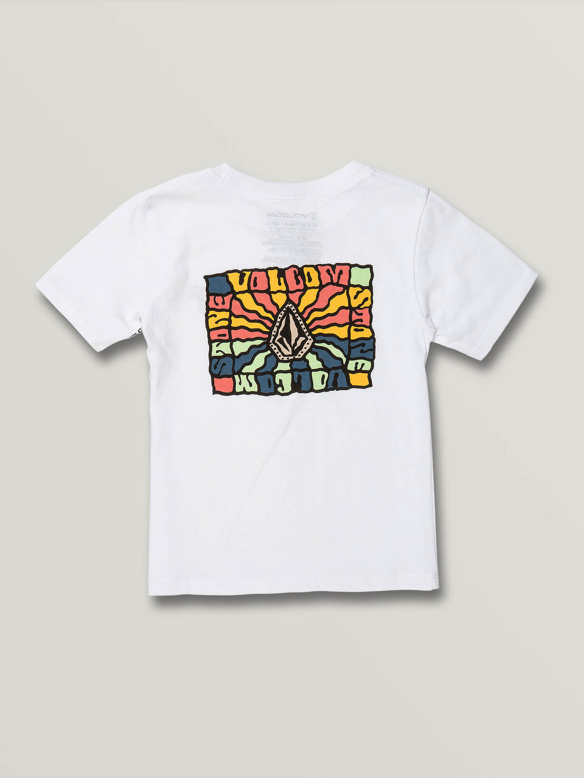 Little Boys Day Waves Short Sleeve Tee - White