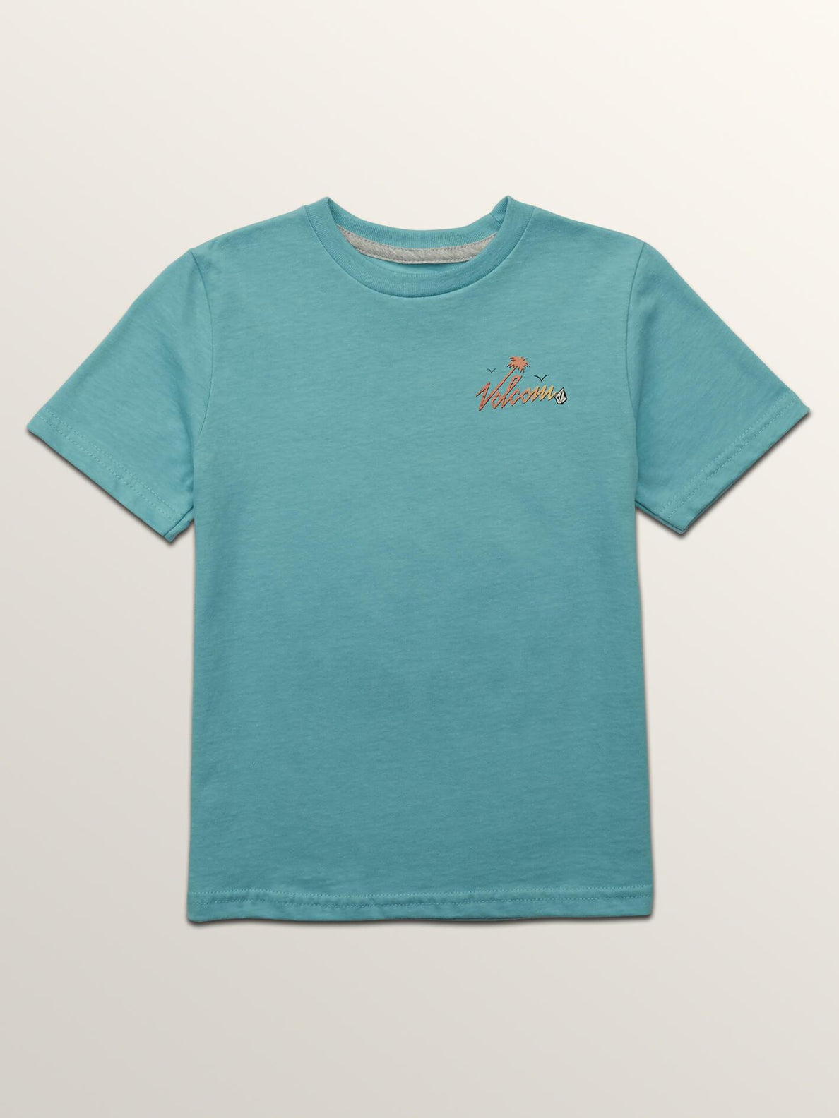 Little Boys Flexer Short Sleeve Tee In Blue Bird, Front View