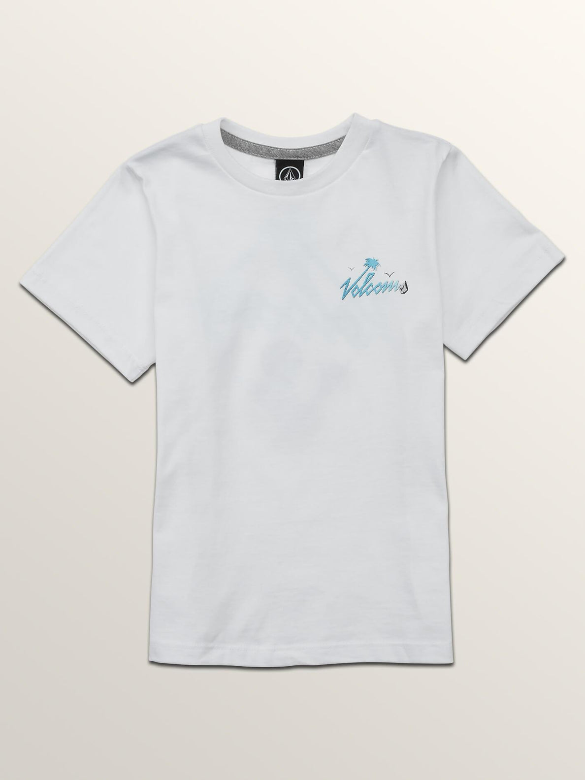 Little Boys Flexer Short Sleeve Tee In White, Front View