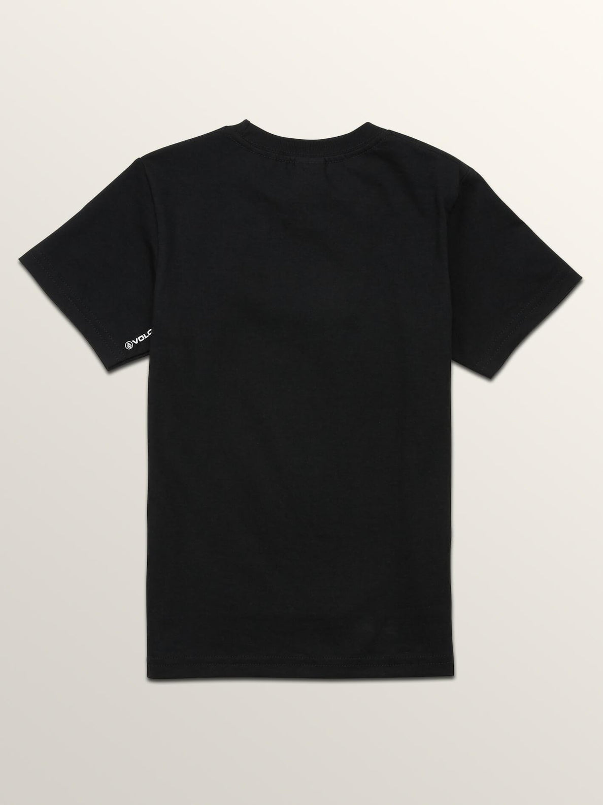 Little Boys Stonar Waves Short Sleeve Tee In Black, Back View