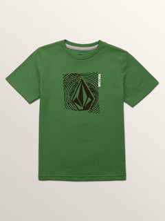 Little Boys Stonar Waves Short Sleeve Tee In Dark Kelly, Front View