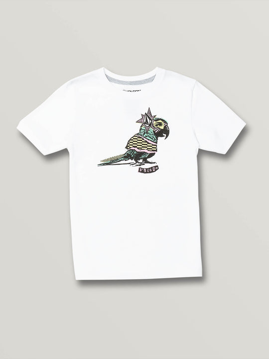 Little Boys Party Bird Short Sleeve - White (Y3531904_WHT) [F]
