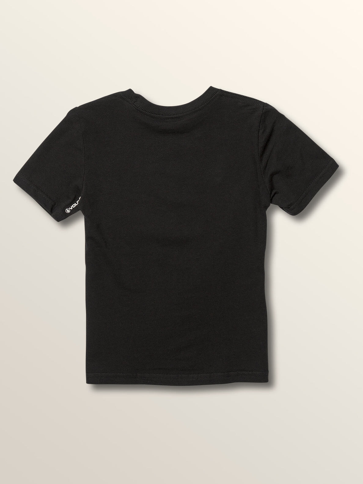 Little Boys Stone Rate Short Sleeve Tee In Black, Back View