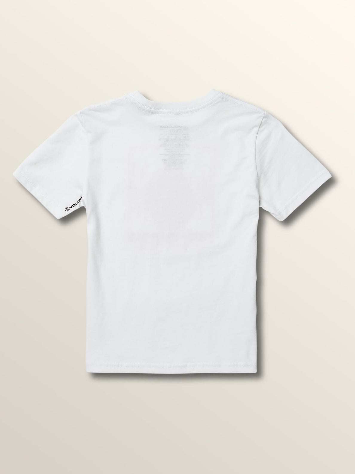 Little Boys Stone Rate Short Sleeve Tee In White, Back View