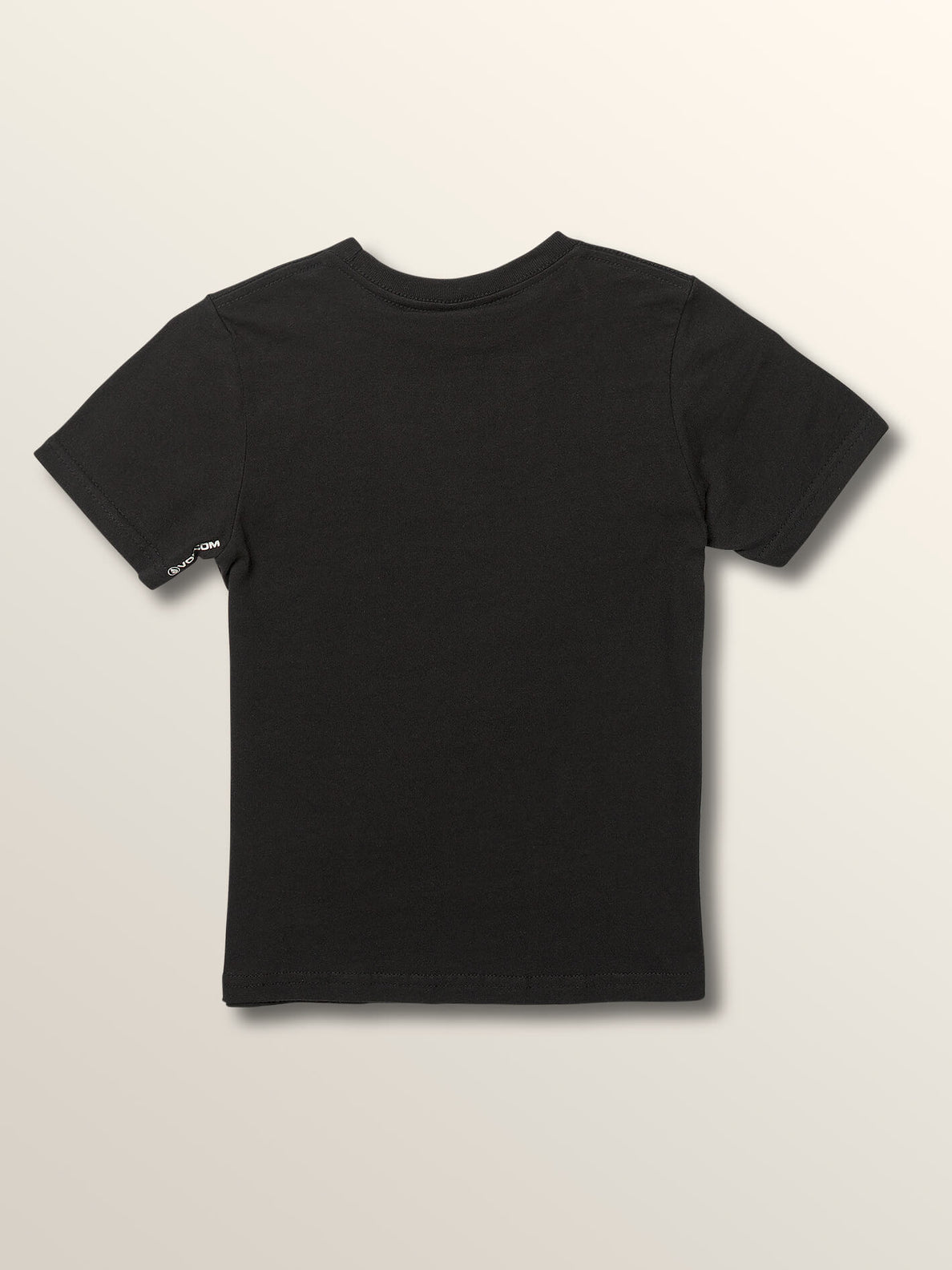 Little Boys Sound Waves Short Sleeve Tee In Black, Back View