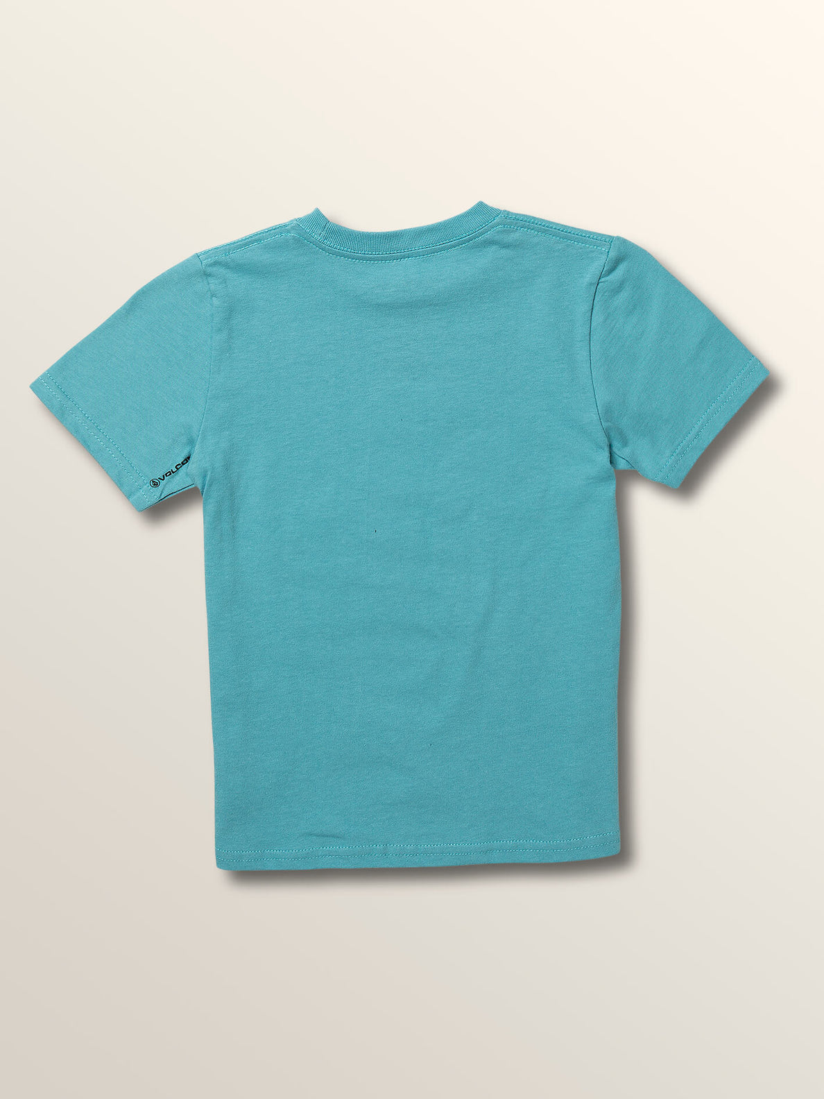 Little Boys Sound Waves Short Sleeve Tee In Blue Bird, Back View
