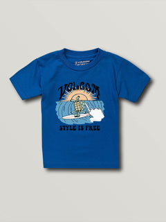 Little Boys Style Is Free Short Sleeve Tee - Royal (Y3541930_ROY) [F]