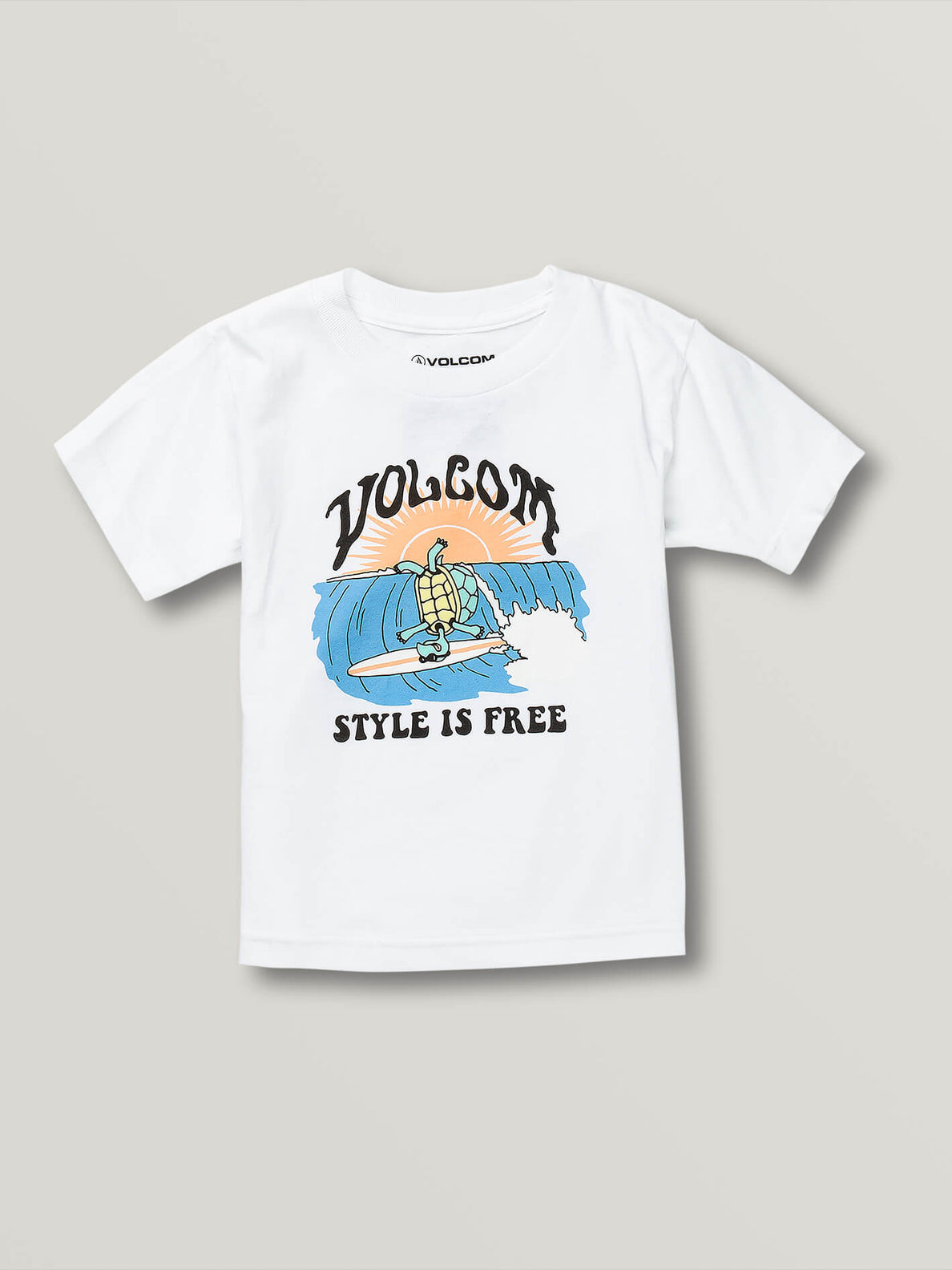 Little Boys Style Is Free Short Sleeve Tee - White (Y3541930_WHT) [F]
