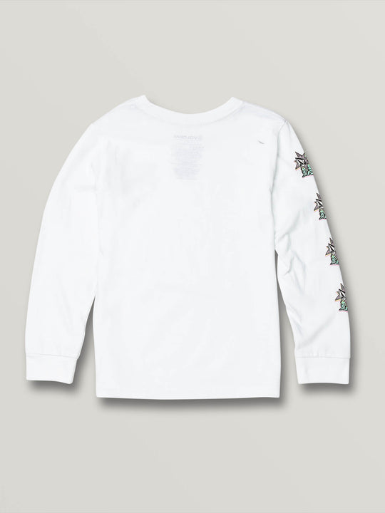Little Boys Party Bird Long Sleeve - White (Y3631906_WHT) [B]