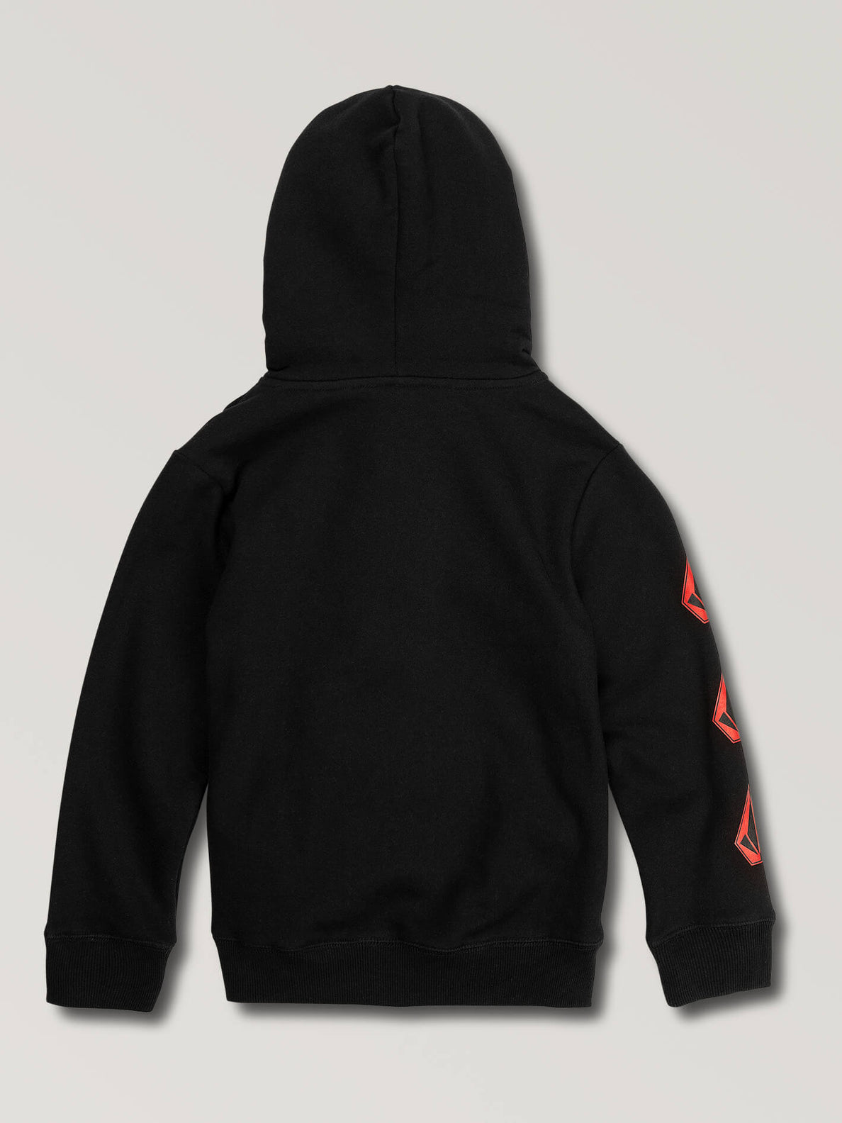 Little Boys Deadly Stones Pullover Hoodie In Black Red, Back View