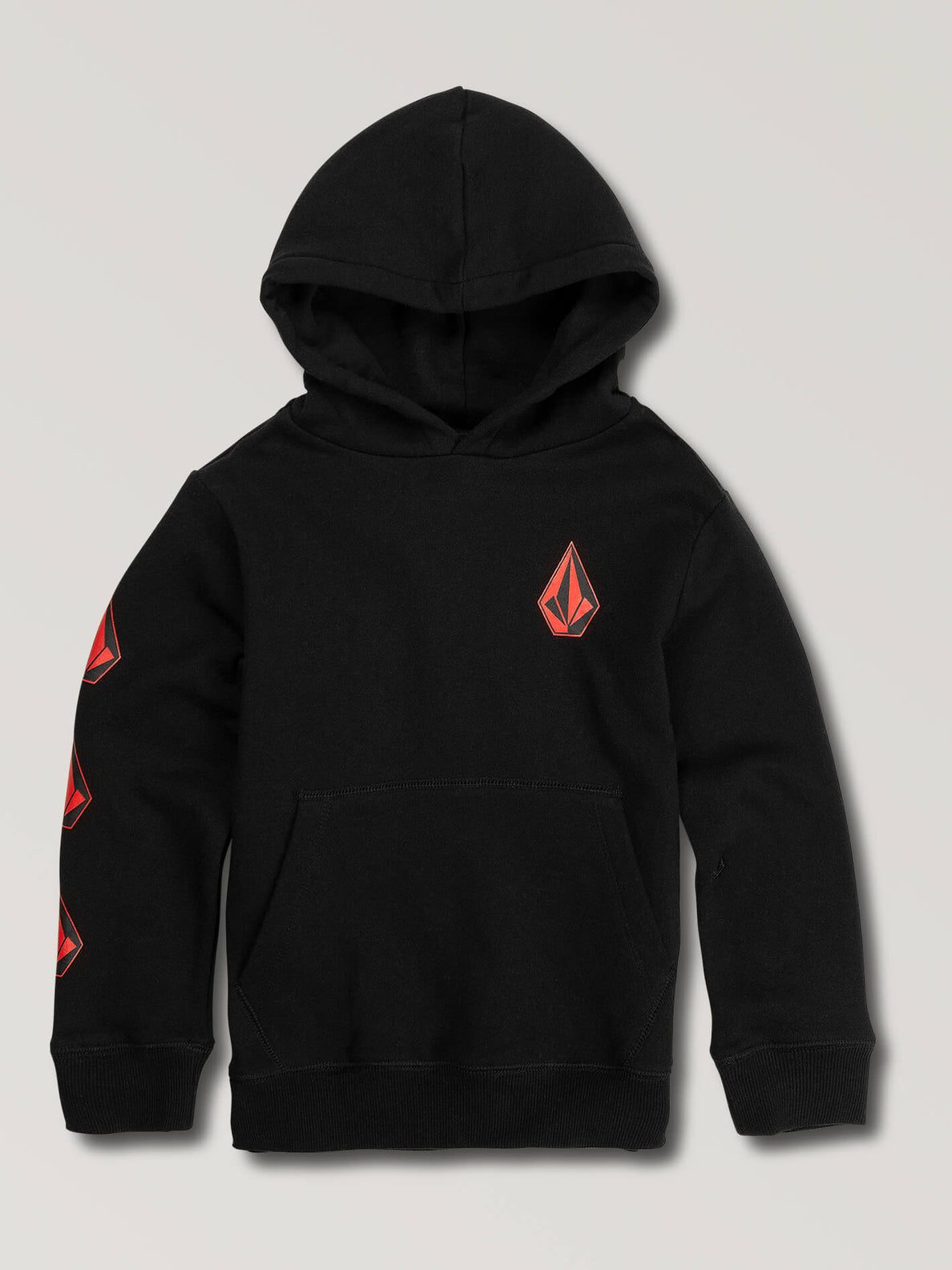 Little Boys Deadly Stones Pullover Hoodie In Black Red, Front View