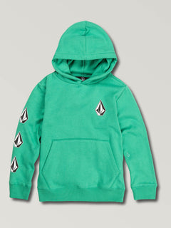 Little Boys Deadly Stones Pullover Hoodie In Wintergreen, Front View