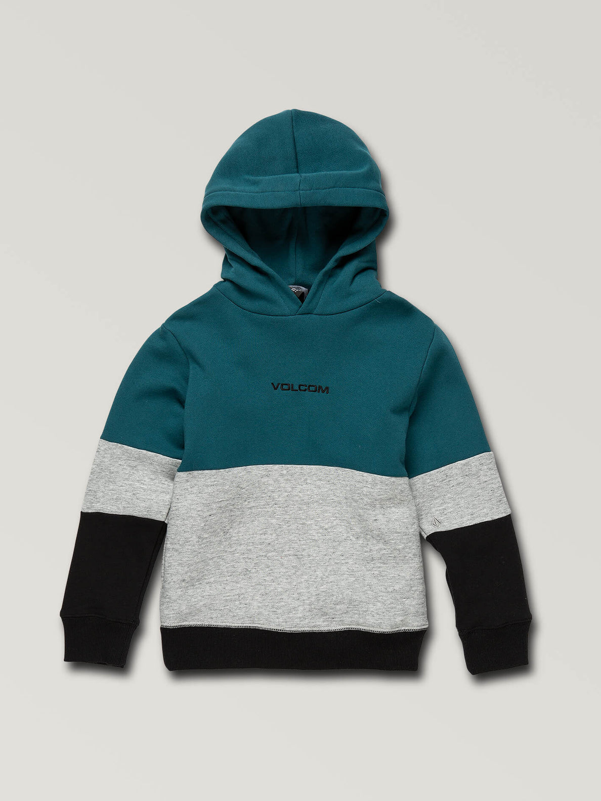 Little Boys Single Stone Division Pullover Hoodie In Teal, Front View