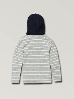 Little Boys Chiller Pullover Hoodie In Blue, Back View