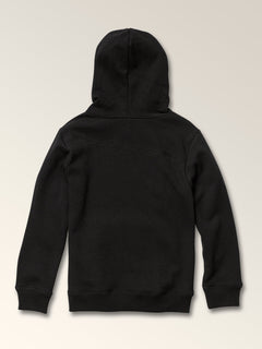 Little Boys Stone Pullover Hoodie In Black, Back View