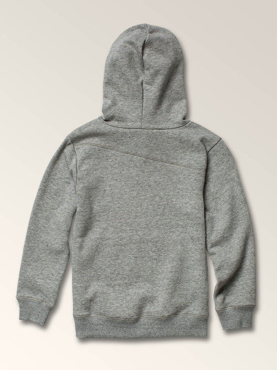 Little Boys Stone Pullover Hoodie In Storm, Back View