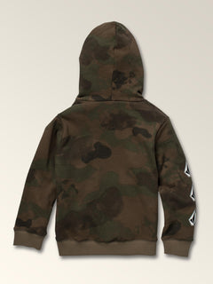 Little Boys Deadly Stones Pullover In Camouflage, Back View